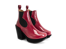 Tracker Red Platform chelsea boot