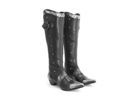 Teah Black Tall ornate boot