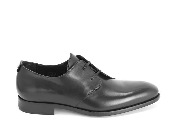 Manhattan: Men's Black Asymmetrical derby shoe