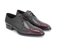 Duke Cerise/Noir Derby brogue à bout golf