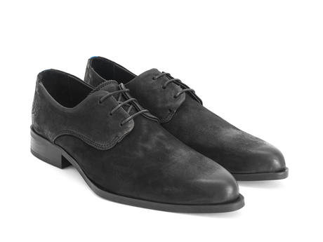 Ace Face Black Simple derby lace-up