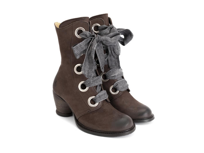 Gladstone Dark Brown Mid-calf lace-up boot