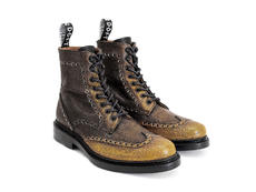 Newell (Unlined) Yellow Brogued Lace-Up Boot