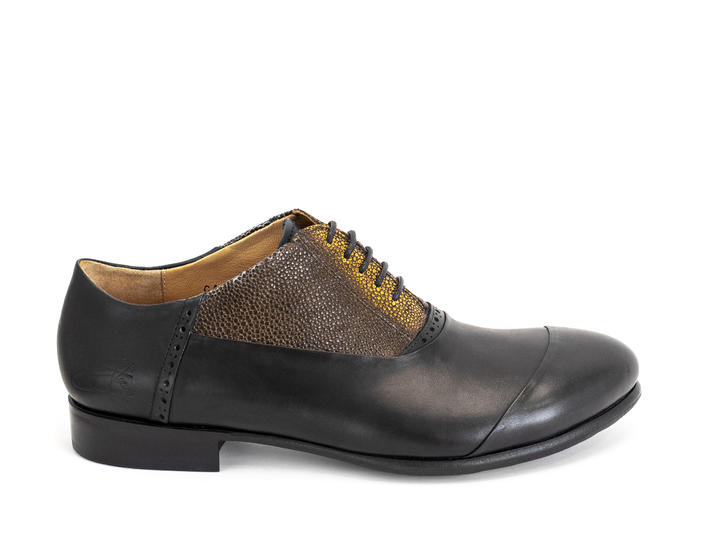 Duston Black/Yellow Asymmetric oxford
