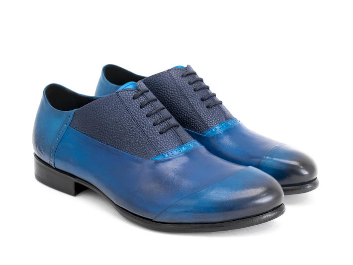 Duston Blue Asymmetric oxford