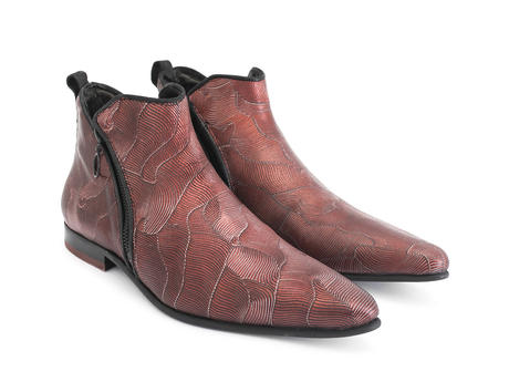 Smith Red Double zip ankle boot
