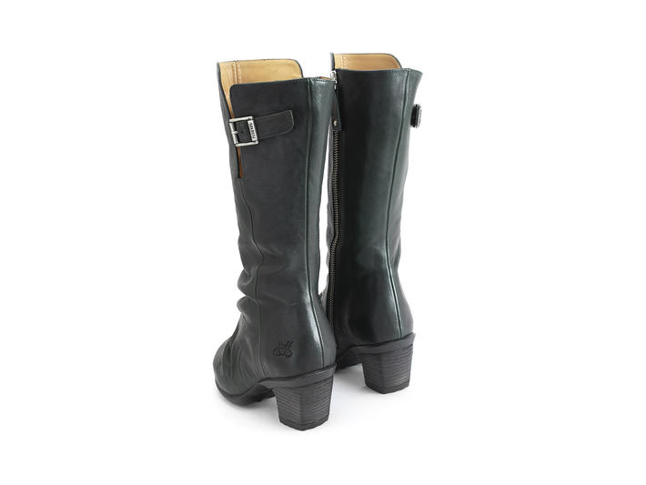Kanawa Dark Green Slouchy Leather Boot