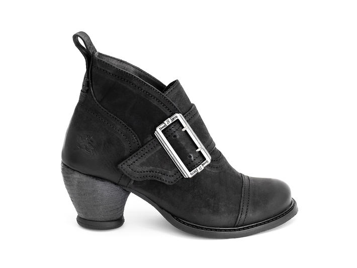 Porter Black Buckled ankle boot