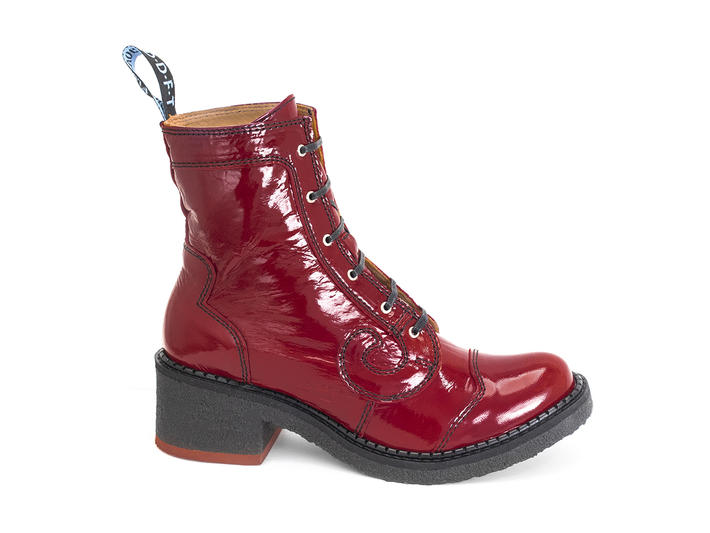 Tardy Red Crepe soled derby boot