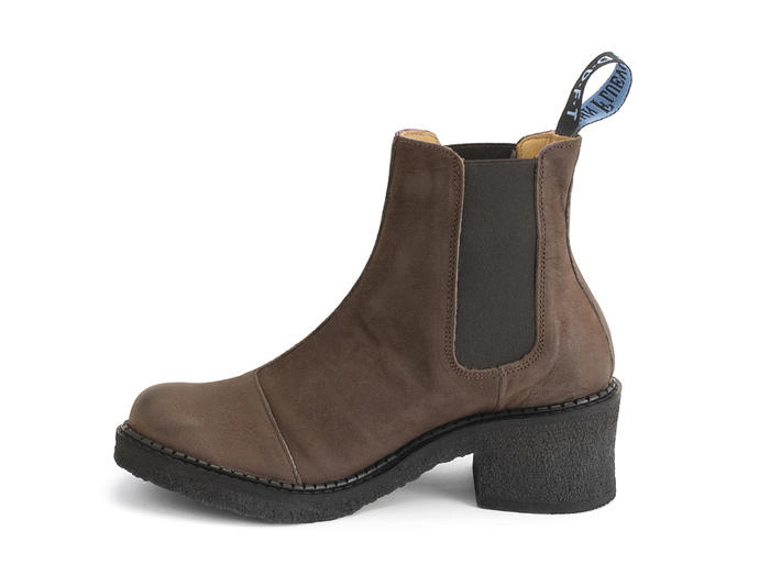 Nap Brown Crepe soled chelsea boot