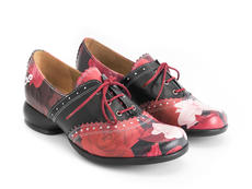 Erika Floral Brogued oxford shoe