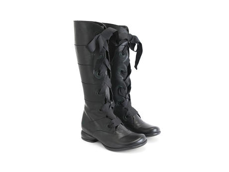 Dana Black Tall lace-up boot