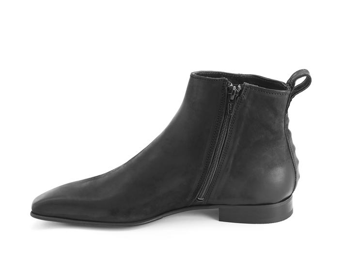 Burghley: Men's Black Square toe ankle boot