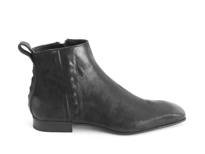 Burghley: Women's Black Square toe ankle boot