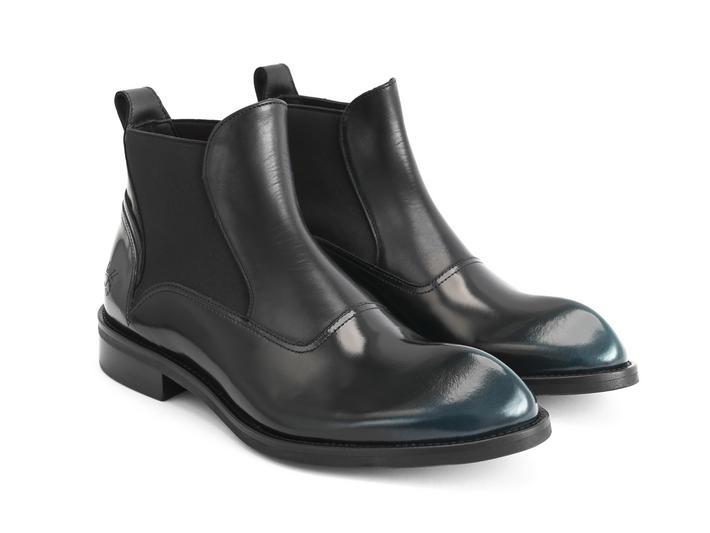 Marcus Petrol Angular chelsea boot