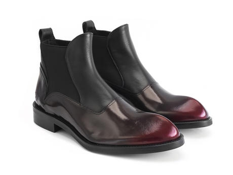 Marcus Burgundy Angular chelsea boot
