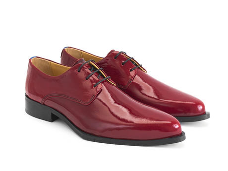 Ace Face Red Patent Simple derby lace-up
