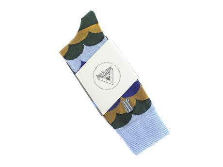 Lux Vog Socks Green/Blue Patterned sock