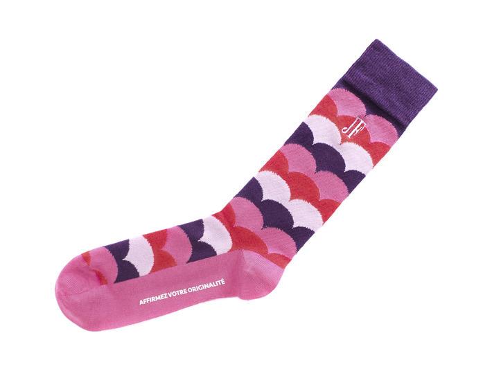 Lux Vog Socks Pink/Purple Patterned sock