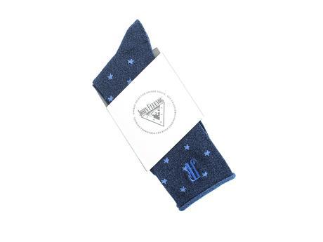 Bonnie Vog Socks Blue Patterned metallic sock