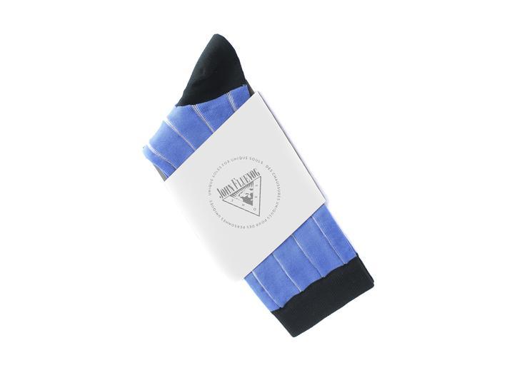Indie Vog Socks Blue Mesh striped sock