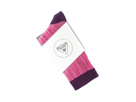 Indie Vog Socks Pink Mesh striped sock