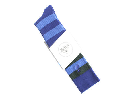 Beu Vog Socks Blue Tall striped sock
