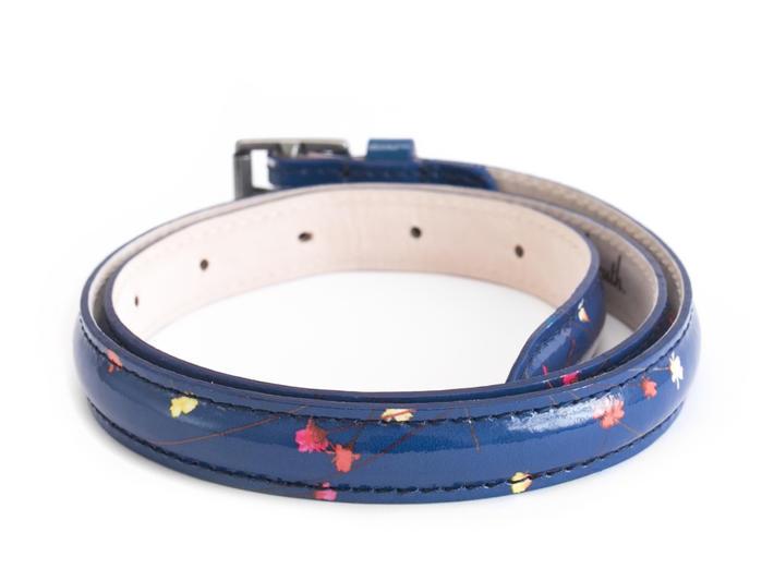 Guinevere Blue Floral Floral waist belt