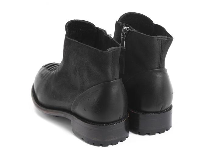 Babette: Men's Black Ankle boot with faux laces