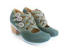 Luxon Green Multi-strap mary jane
