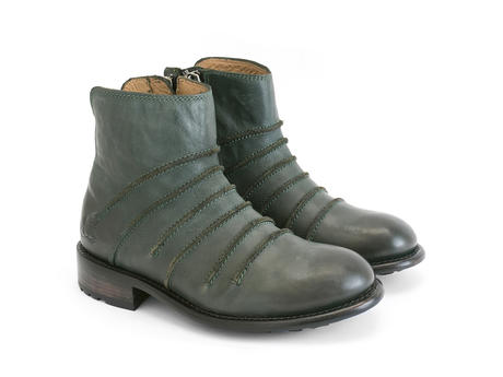 Beauvoir Green Ankle boot with out seams