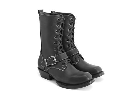 Coventry: Women's Black Lace-up boot with strap