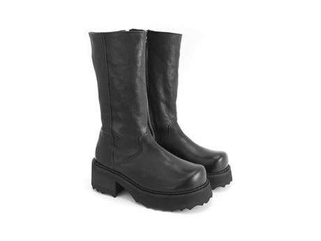 Yolanda Black/Black Sole Rubber soled boot