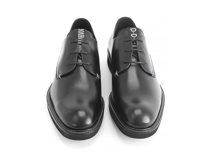Margetts Black Lightweight derby shoe