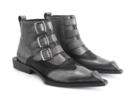 Ryder Grey Bumped toe ankle boot