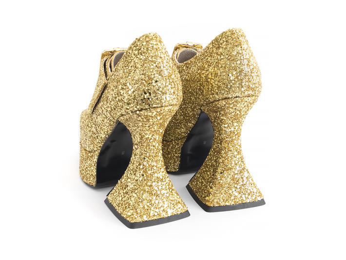 Original Gold Baroque platform heel