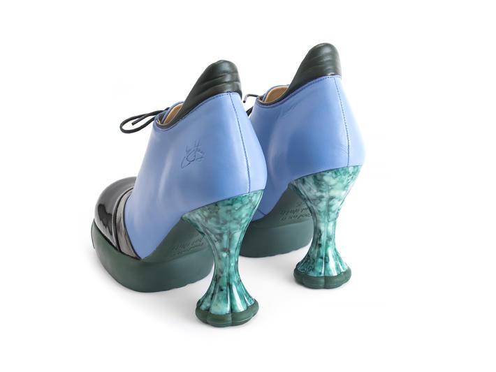 Sova Sundae Blue Heeled platform lace-up