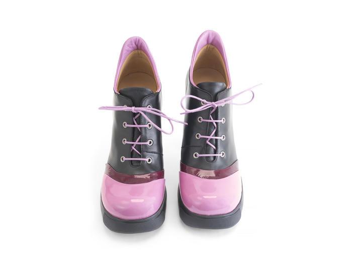 Sova Sundae Berry Heeled platform lace-up