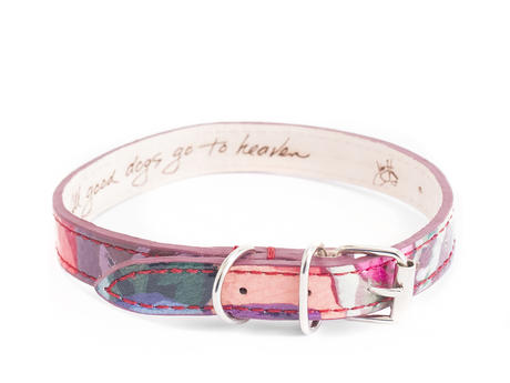 JF Dog Collar JF Floral Leather dog collar
