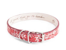 JF Dog Collar Red Leather dog collar