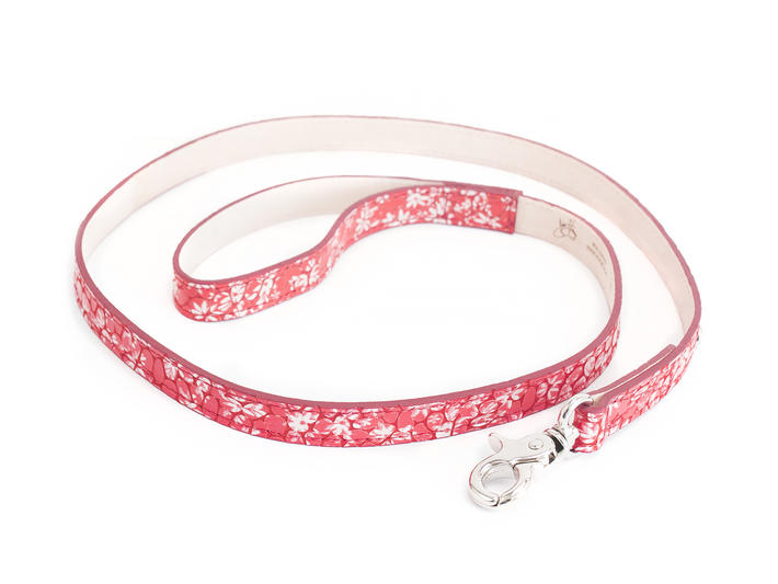 JF Dog Leash Red Leather dog leash