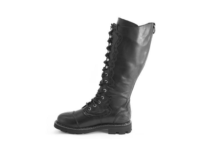 Bertman Black Tall derby boot
