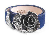 Rohesia Blue Waist belt with rose