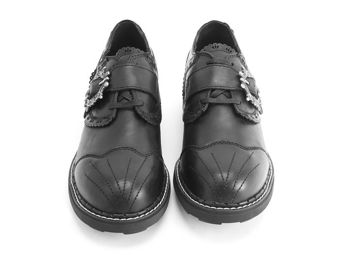 Capellan Black Buckled derby shoe