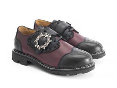 Capellan Burgundy Buckled derby shoe