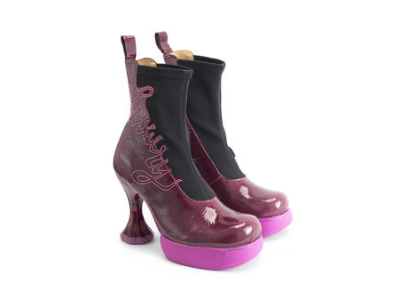 Lena Parfait Berry Platform ankle boot