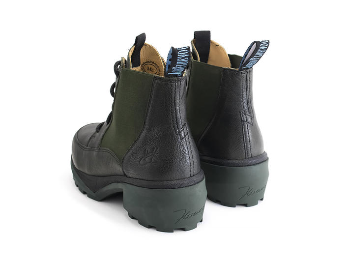 Dumbo Green Lace-up chelsea boot
