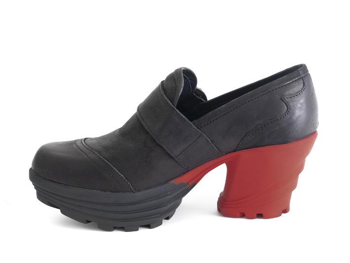 Jammin' Noir/Rouge Chaussure plateforme contrastée