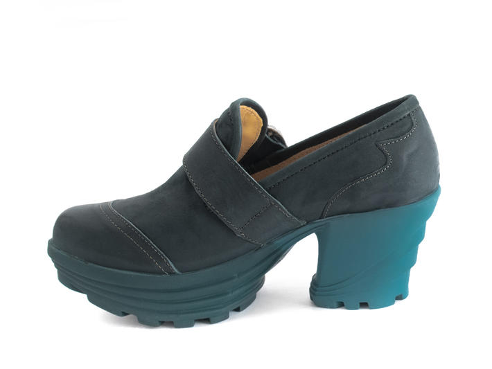 Jammin' Peacock Contrast platform shoe