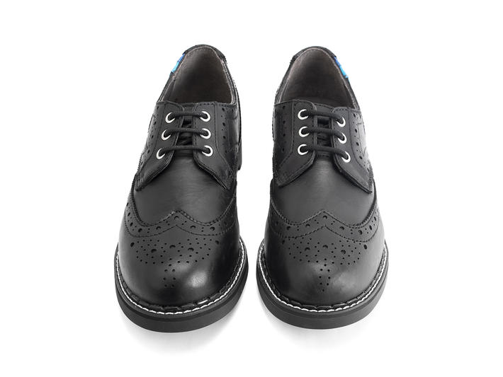 Michael: Women's Black Classic Wingtipped Derby